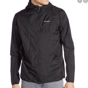 PATAGONIA Black And Red FullZip Windbreaker Jacket